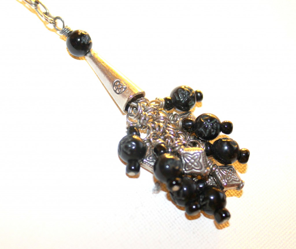Charm Necklace with Cone Bead
