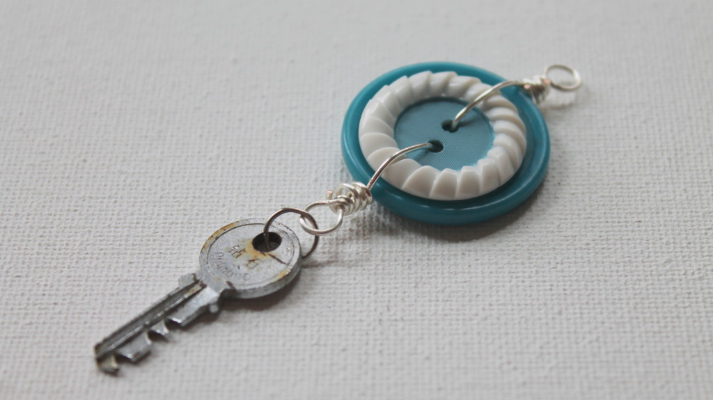 Button and Key Charm