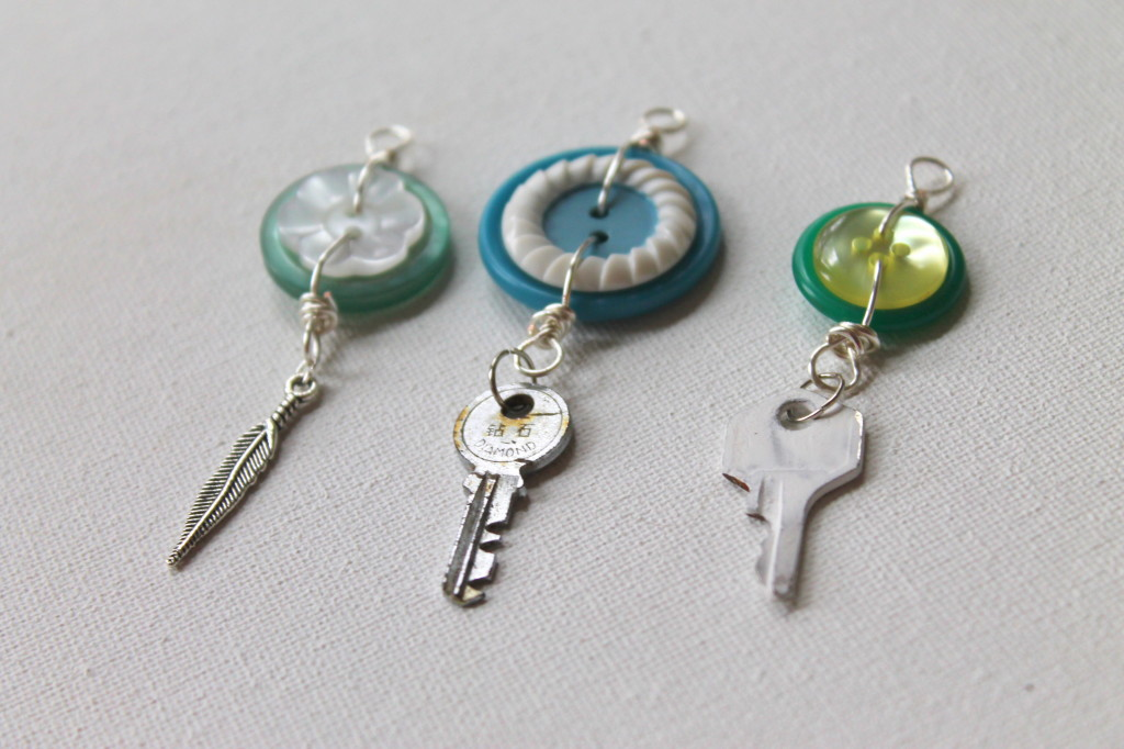Charms made with Unconventional Materials