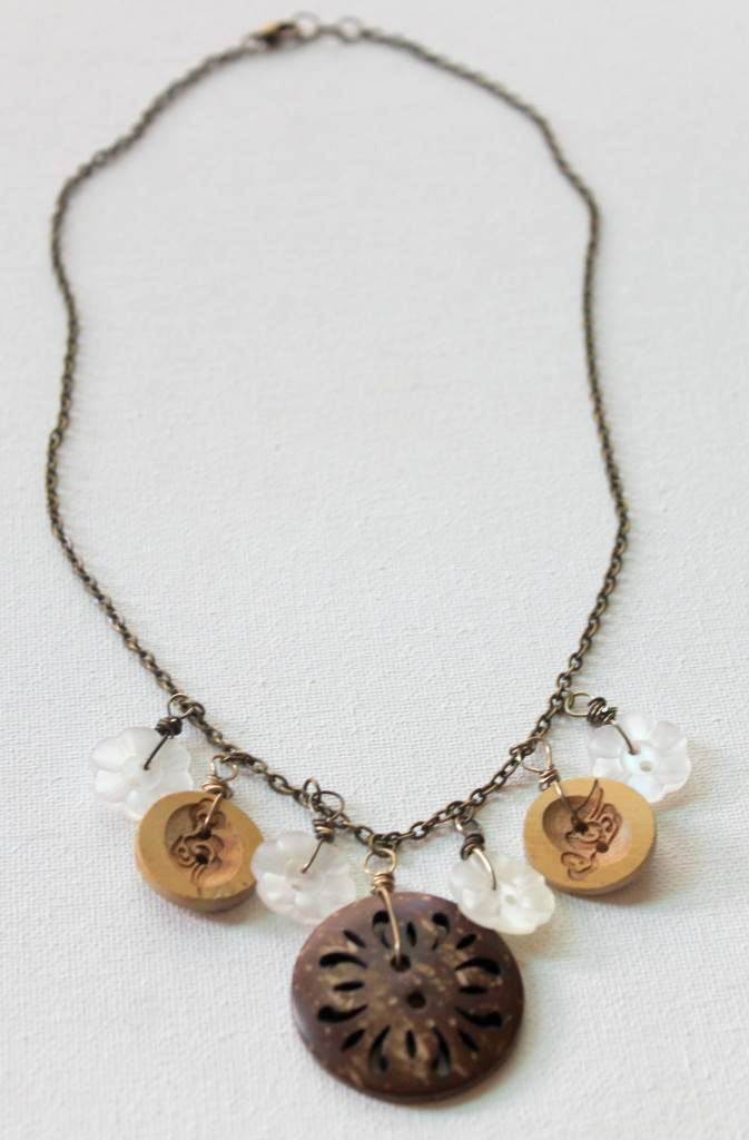 Button Charm Necklace