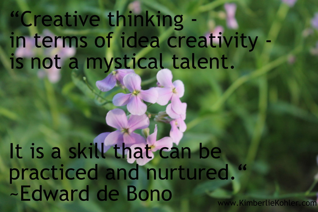 creativity can be practiced and nurtured