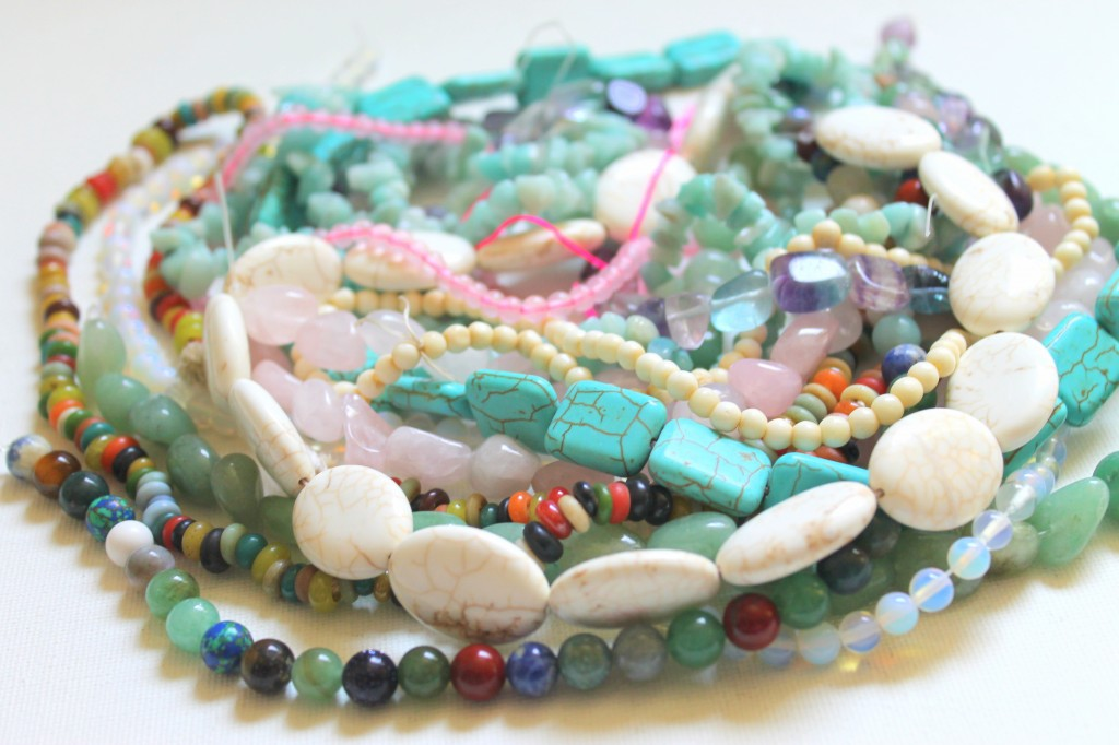 Pile of Beads Ready to be made into jewelry.