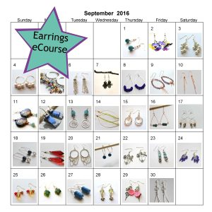 Earrings eCourse 2016 Calendar