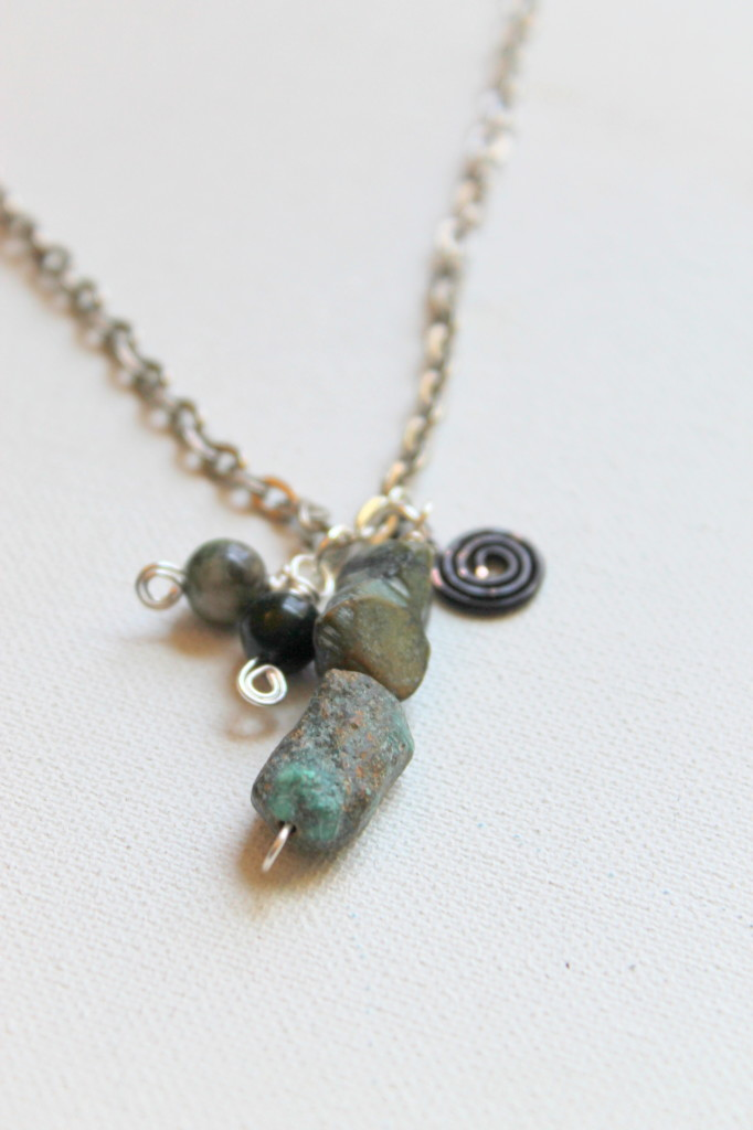 Spiral Charm Necklace