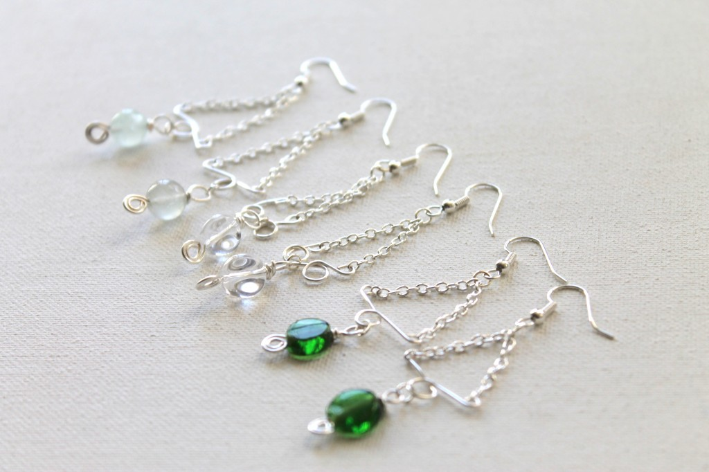Chain and Wire Earrings