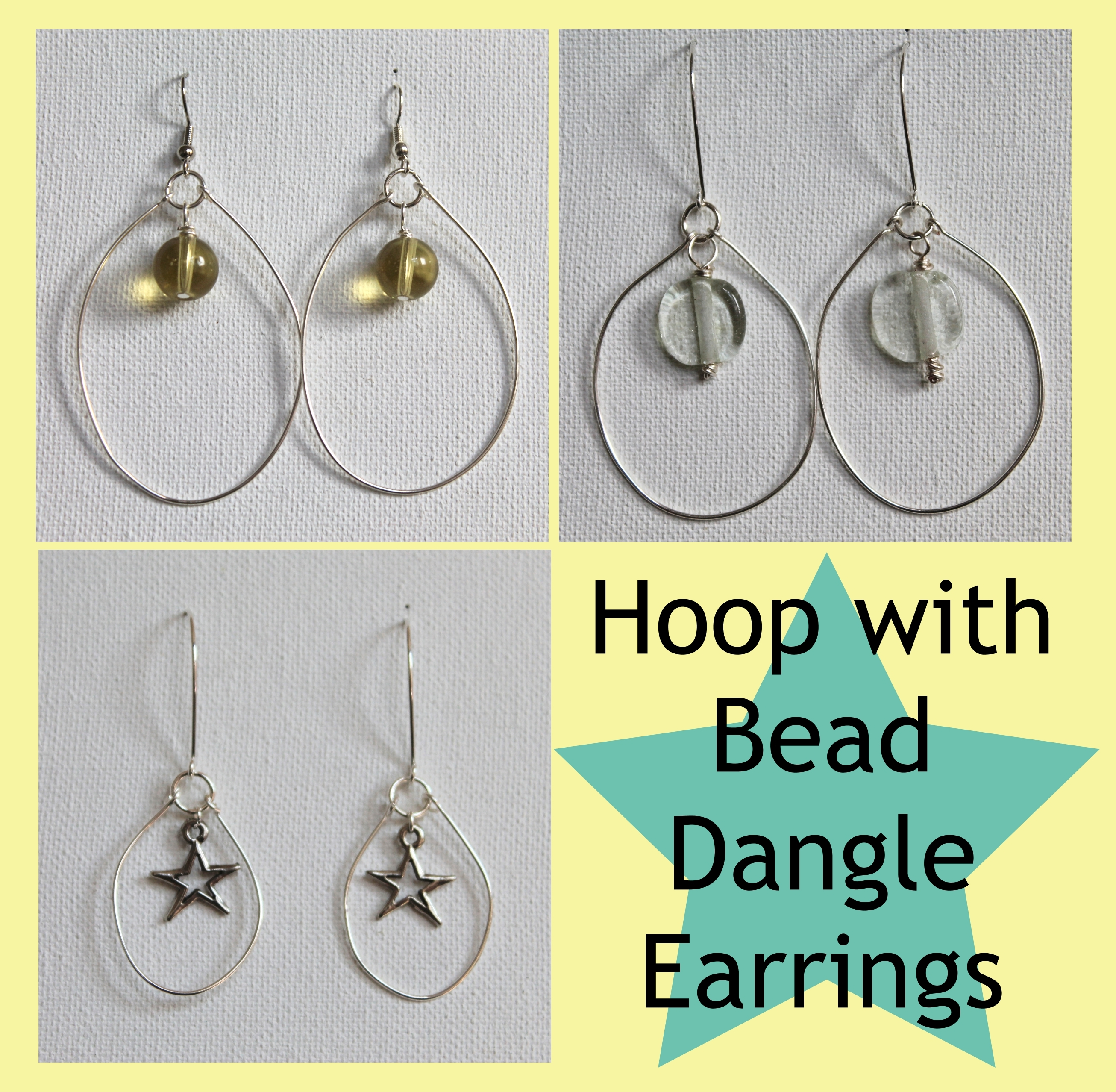 Hoop with Bead Dangle Earrings Pattern