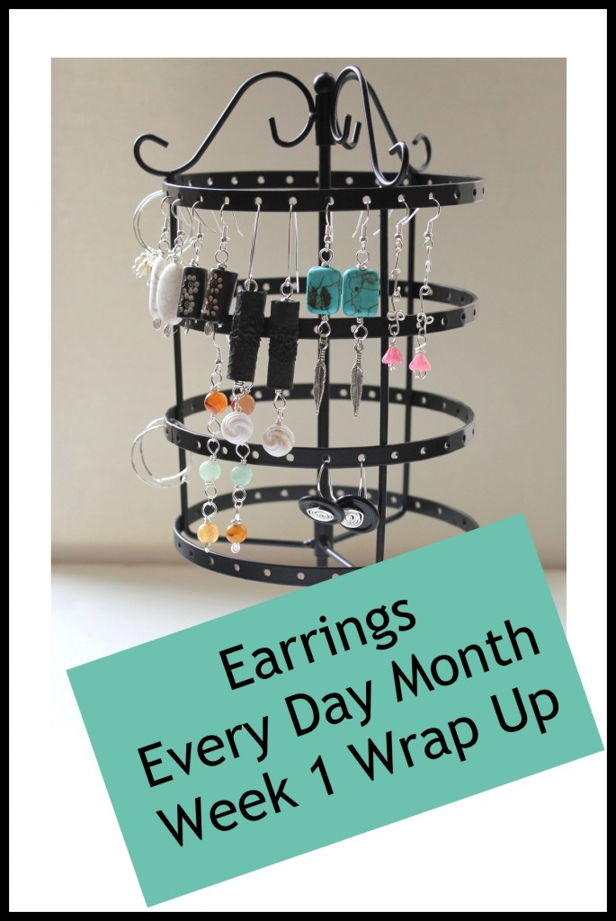 Earrings Every Day Month Week 1 Wrap Up