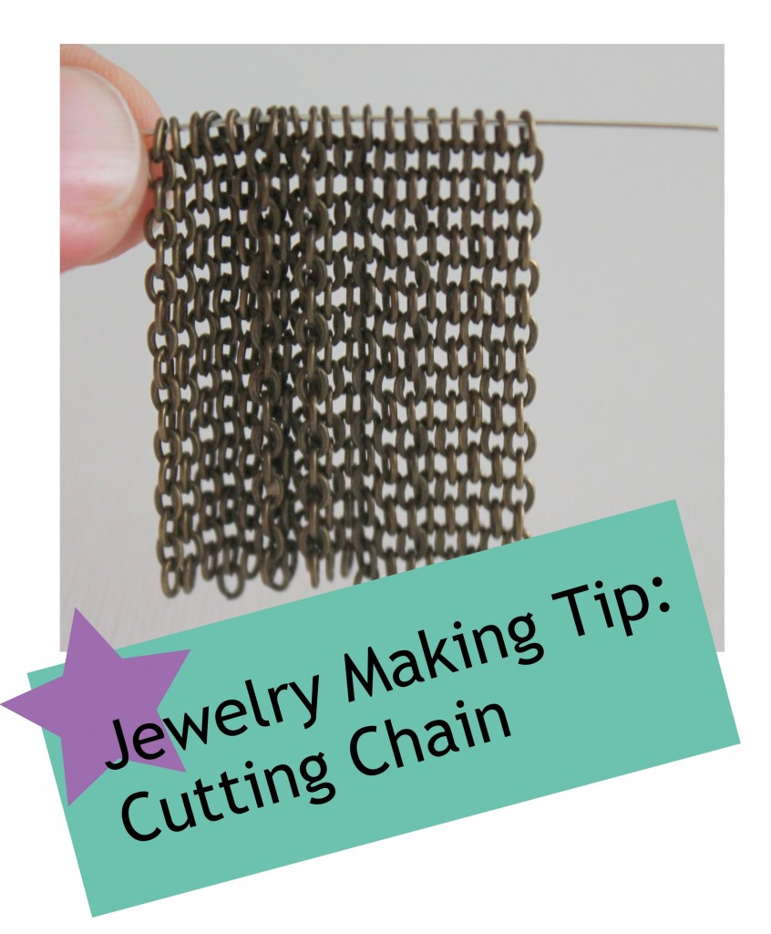 Jewelry Making Tip:  Cutting Chain