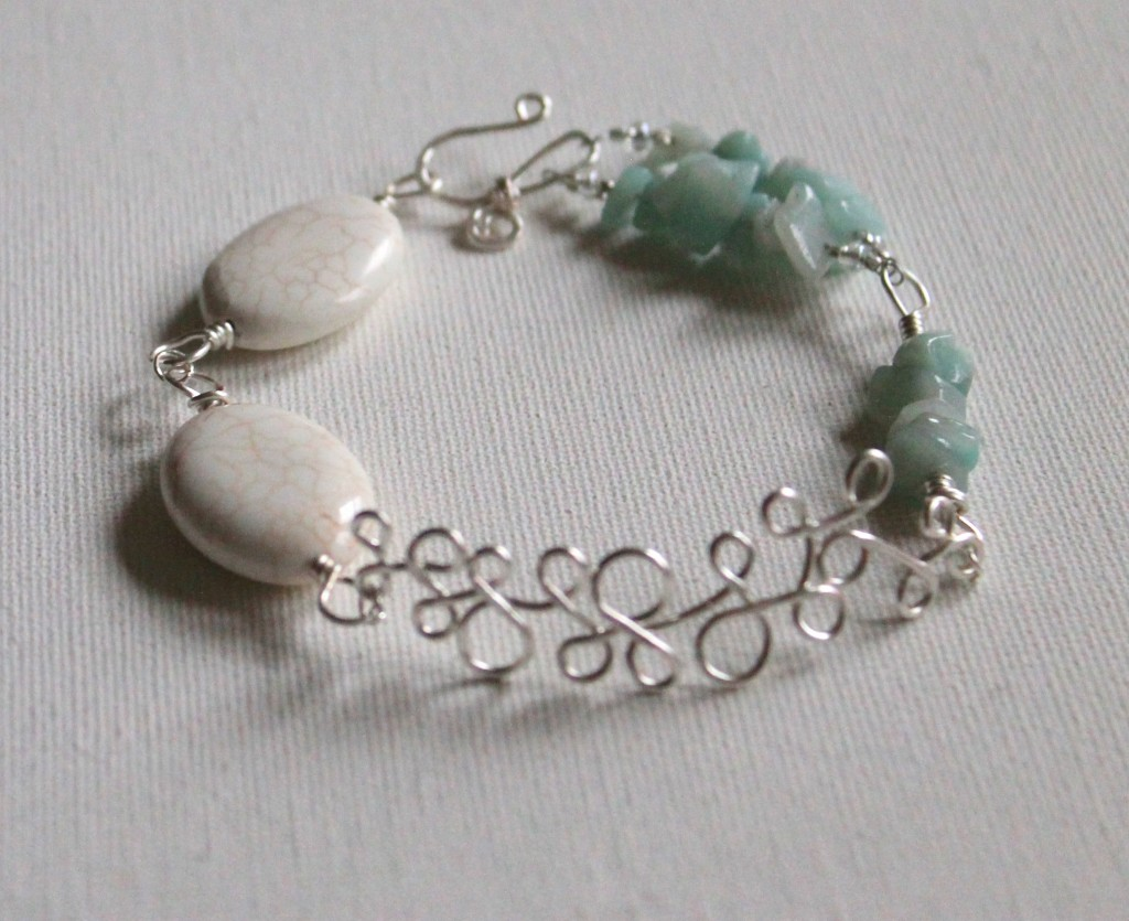 Bead and Wire Bracelet