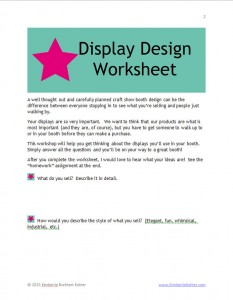 Display Design Worksheet screenshot