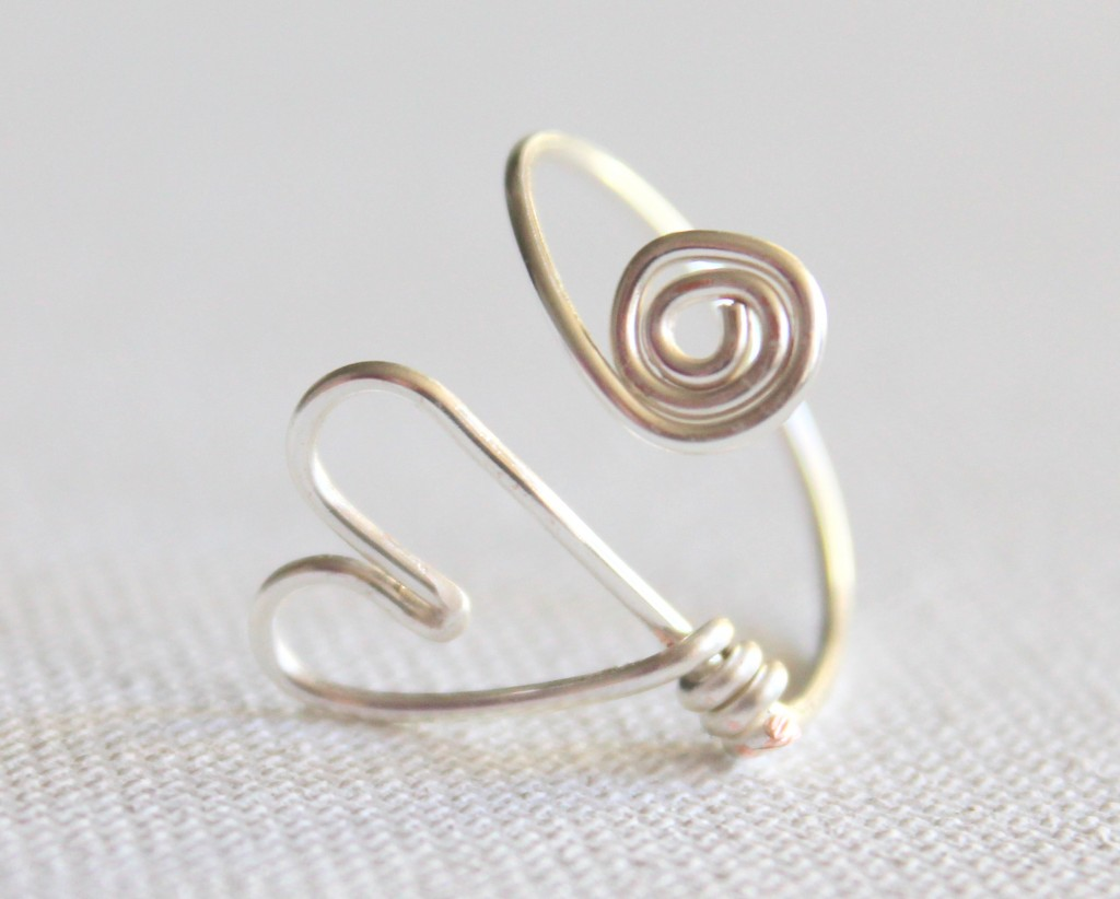 Adjustable Heart Ring Tutorial