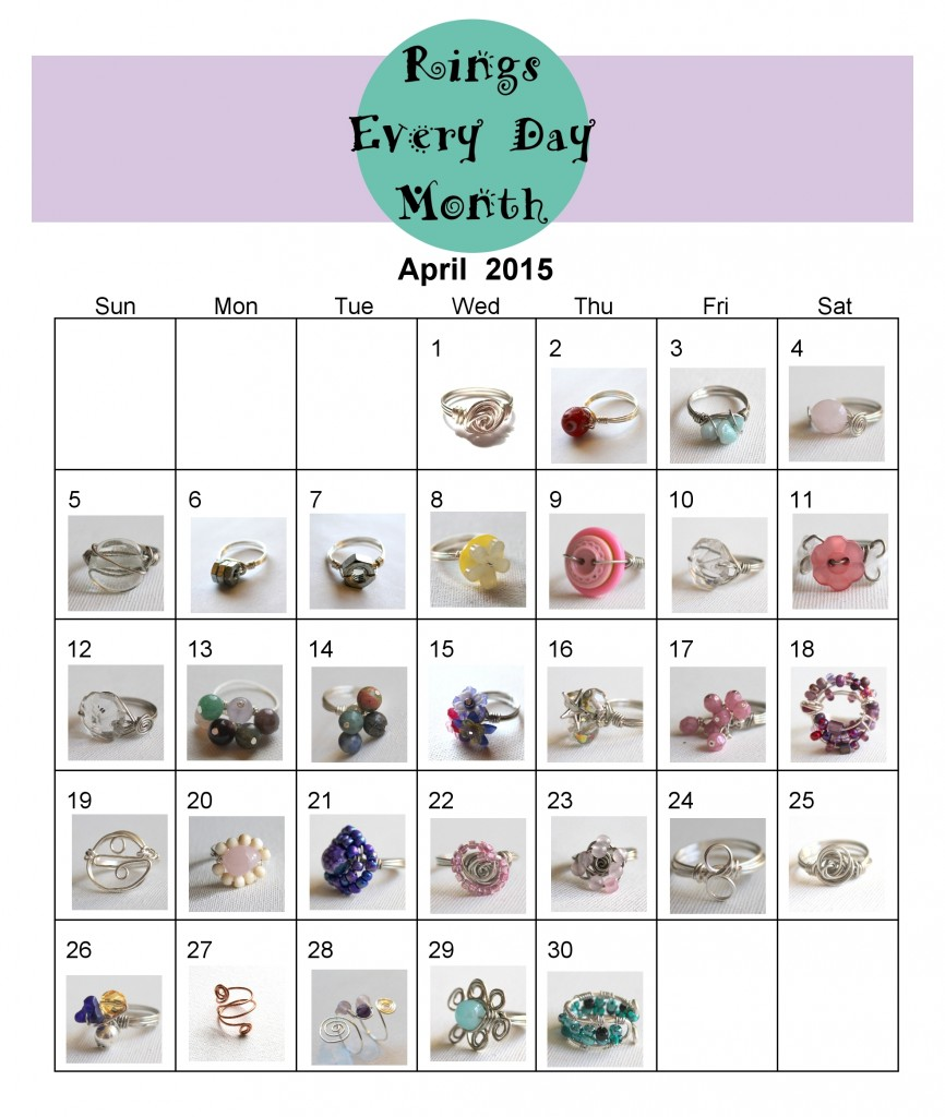 Rings Every Day Month Premium Calendar