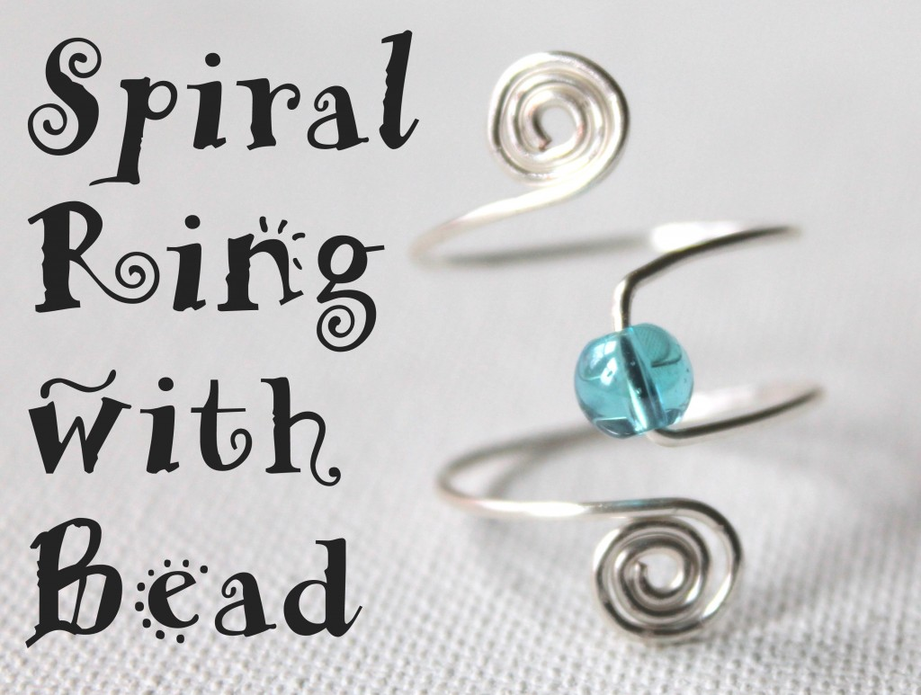Adjustable Spiral Ring with Bead