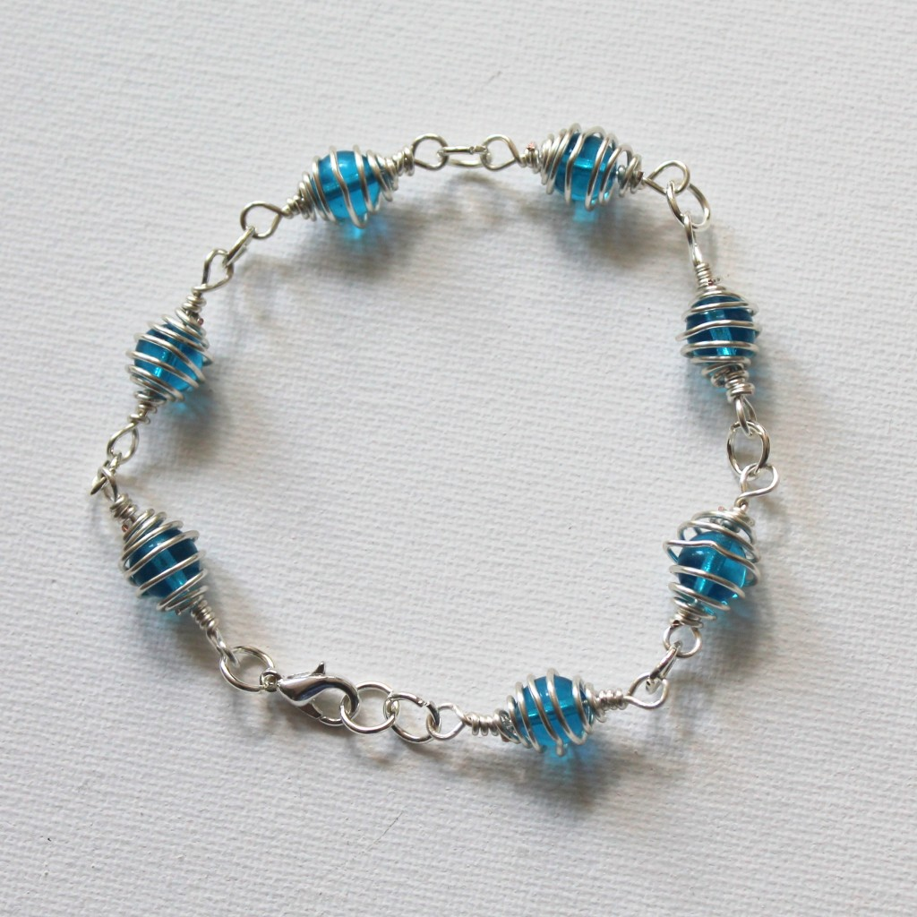 Caged Bead Bracelet