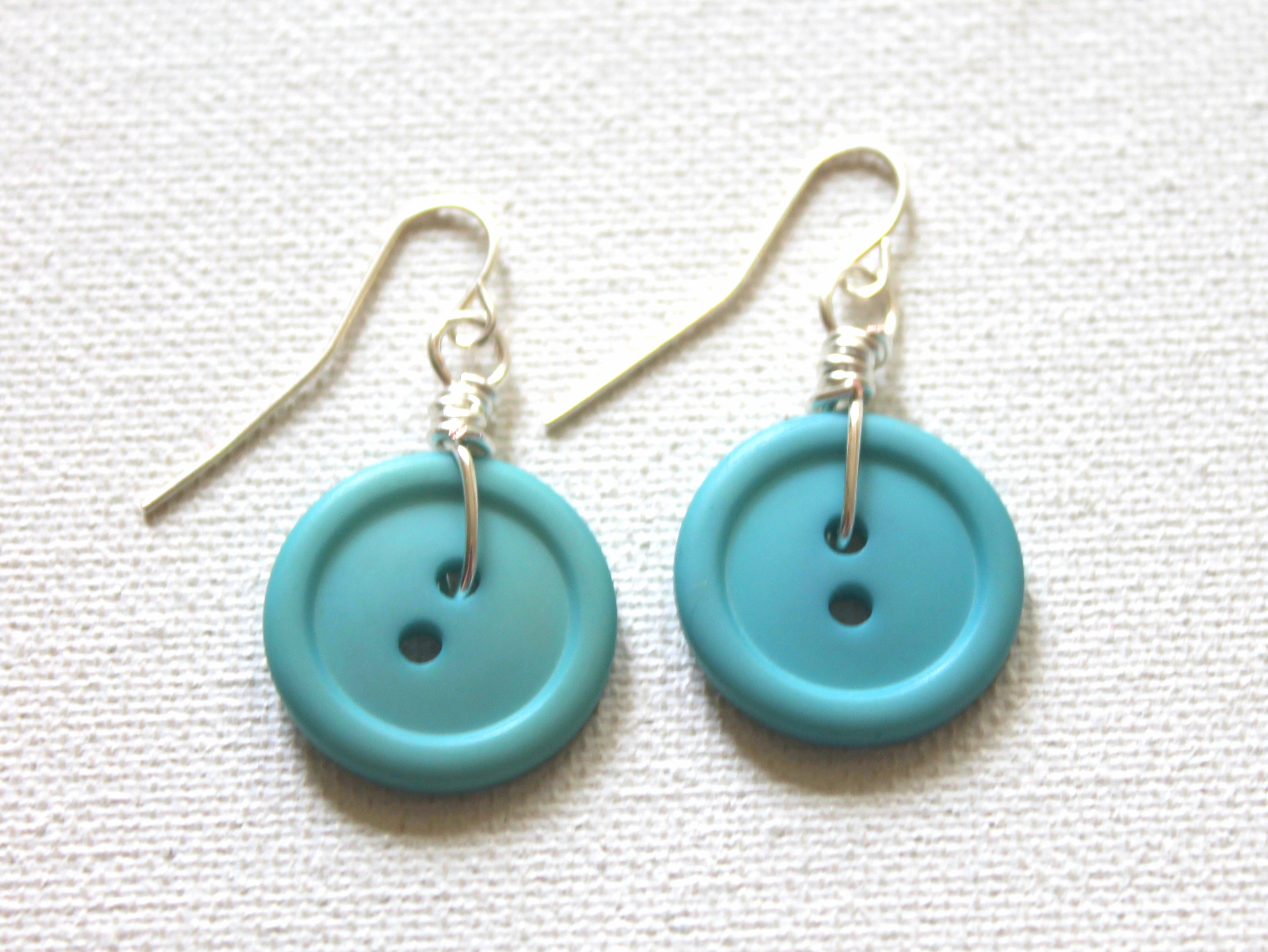 Button Earrings | Emerging Creatively Jewelry Tutorials