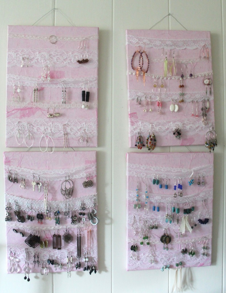 DIY Earring Storage