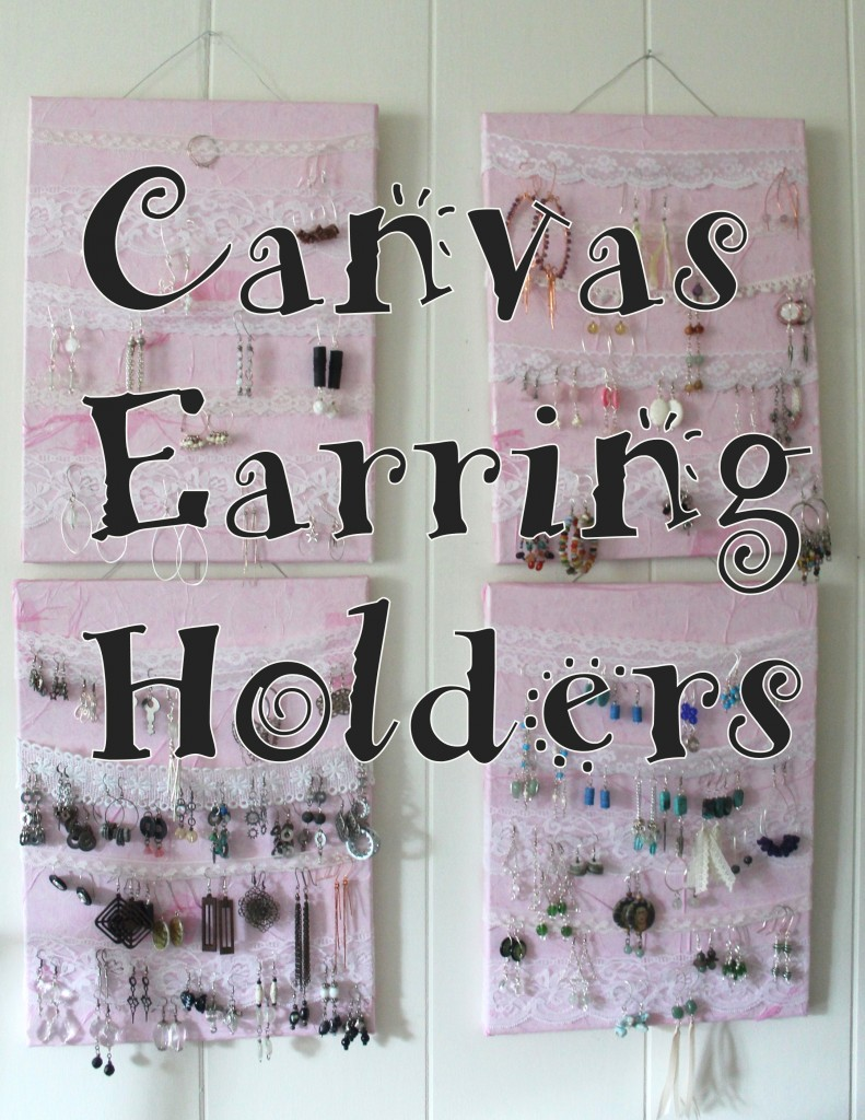 Canvas Earring Holders