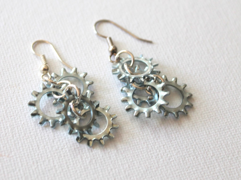 Earrings Every Day Month, Day 11:  Hardware Bunch Earrings