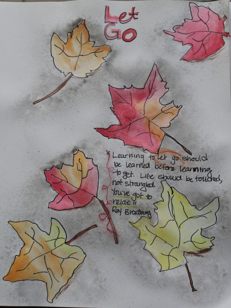 Art Journal Page - Let Go