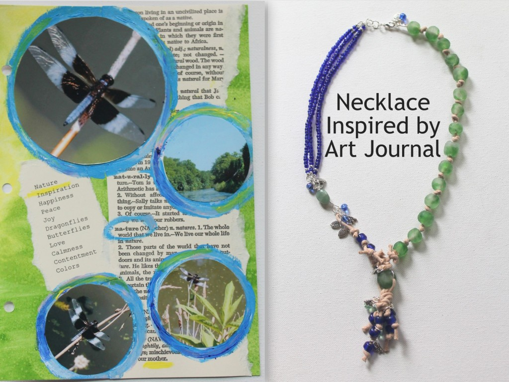 Art Journal Inspiration to Necklace