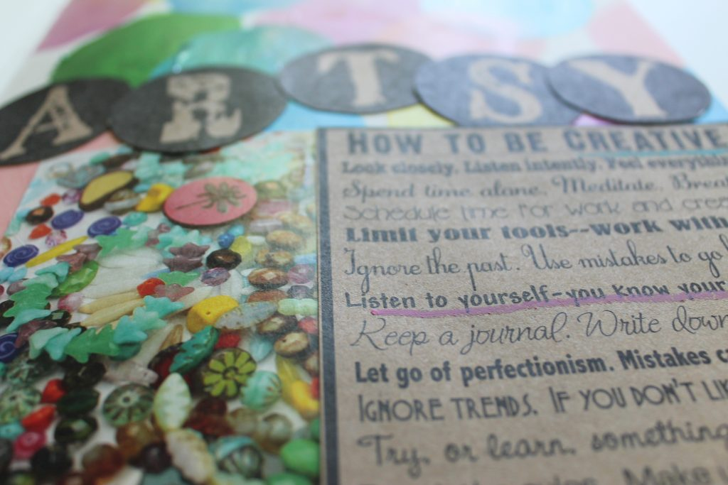 How to Be Creative Art Journal Page