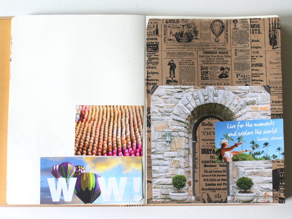 Week Long Collage Art Journal Page