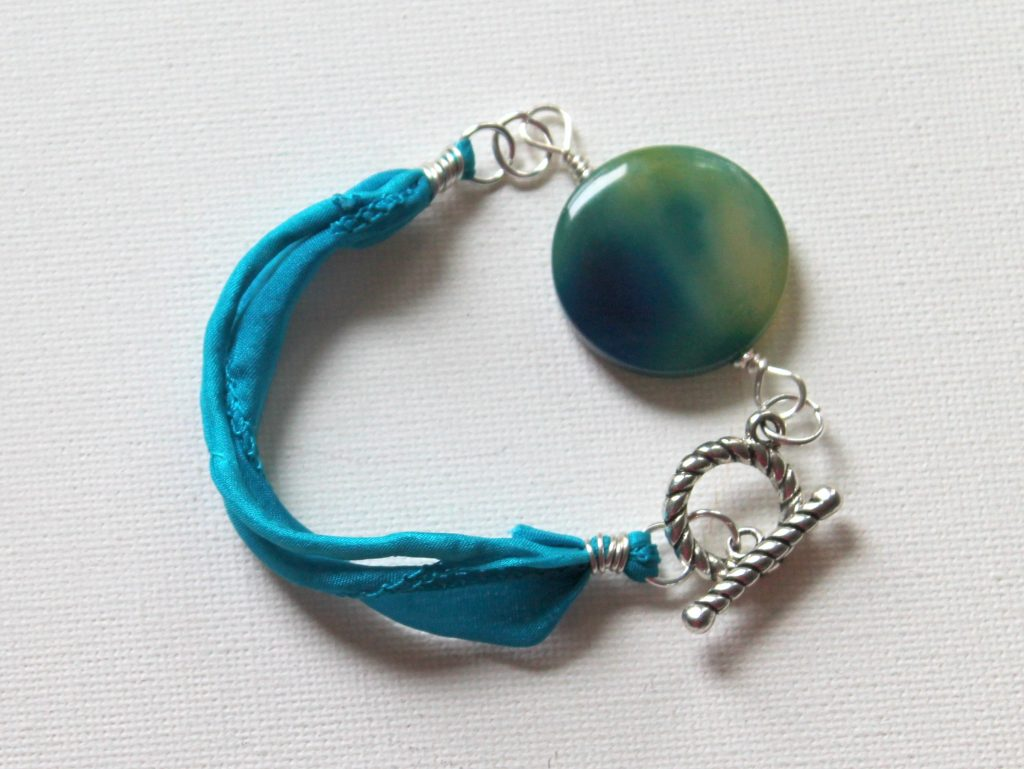 ECT TV Episode 66: Silk Ribbon Bracelet with Focal Bead