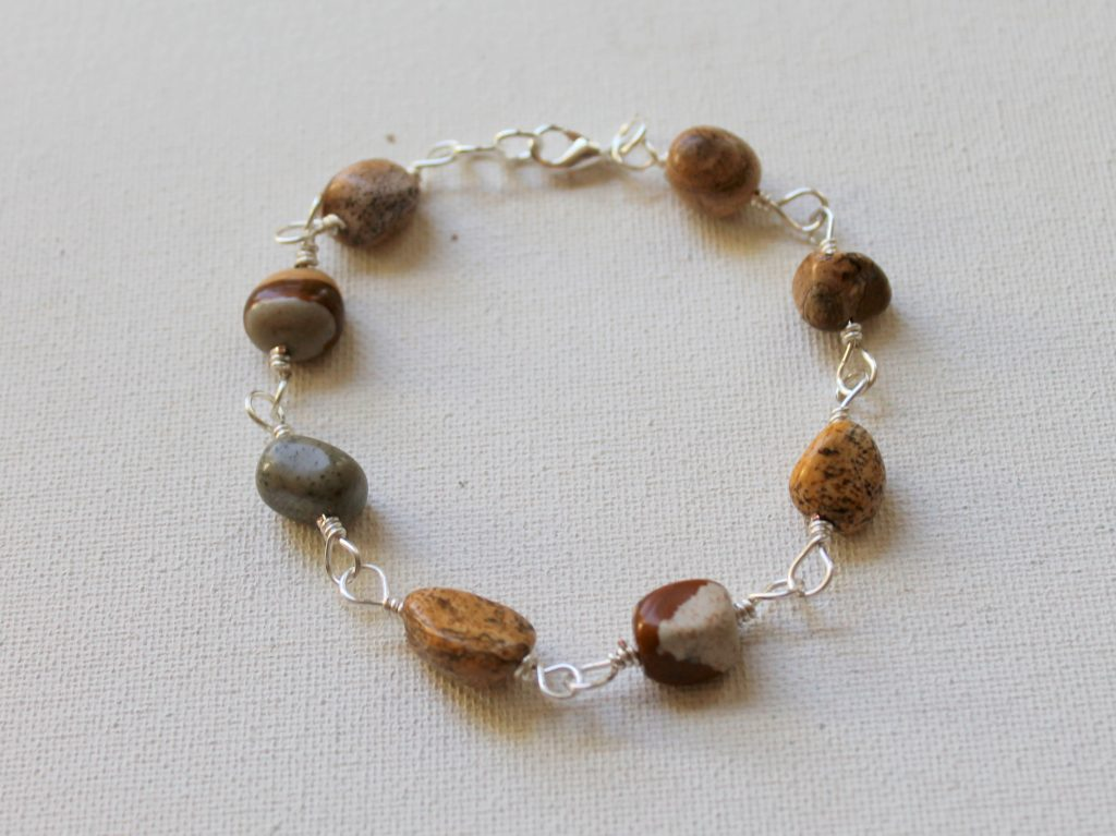 Wire Wrapped Bead Link Bracelet