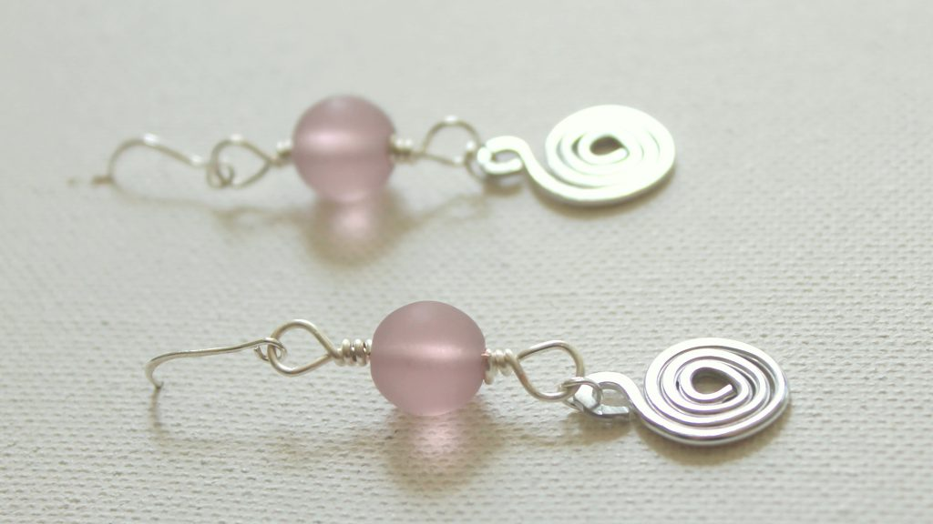 Bead and Spiral Earrings
