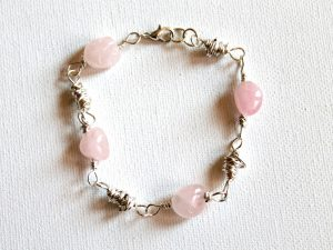 Knotted Link and Bead Link Bracelet