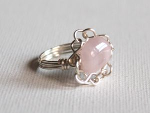 Bead Ring with Chain