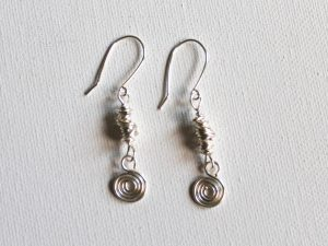 Spiral Charm and Knotted Link Earrings