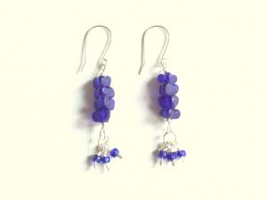 Tiered Earrings with Multiple Bead Dangles