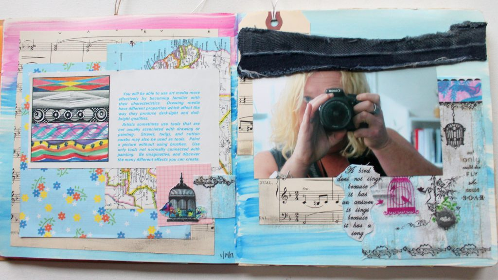 Soar:  Art Journal Inspiration to Inspired Jewelry Piece
