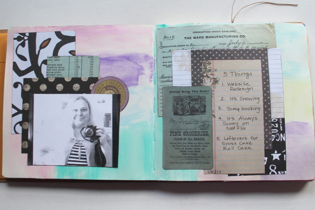 Art Journal Page - layering