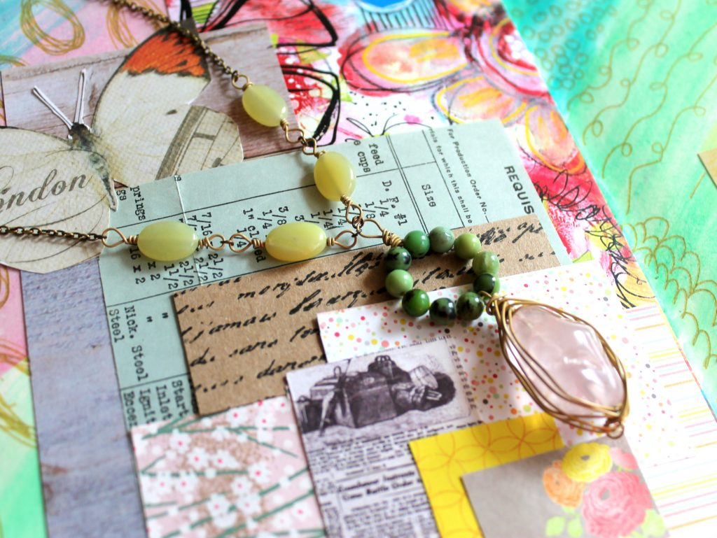 Circles Necklace from Art Journal Inspiration