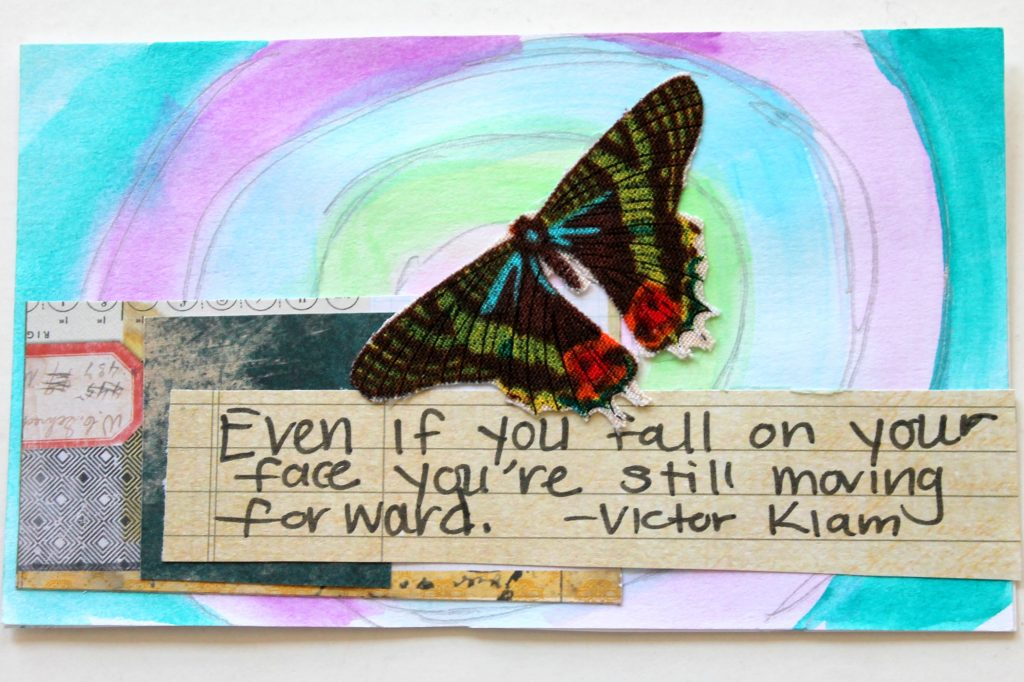 Mixed Media Quote Index Cards