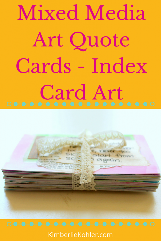 Mixed Media Art Quote Cards