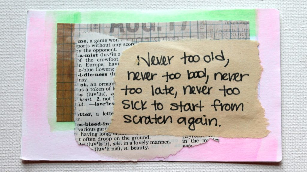 Mixed Media Quote Card
