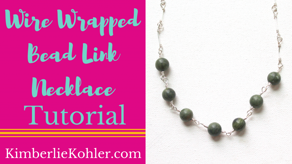 Wire Wrapped Bead Link Necklace