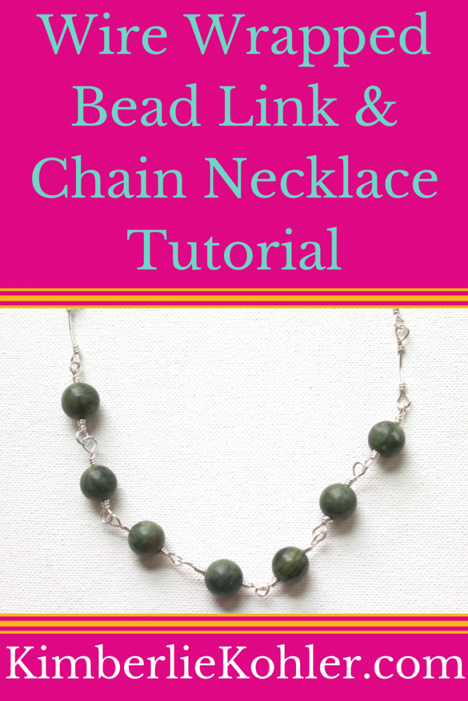 Wire Wrapped Bead Link Necklace Tutorial