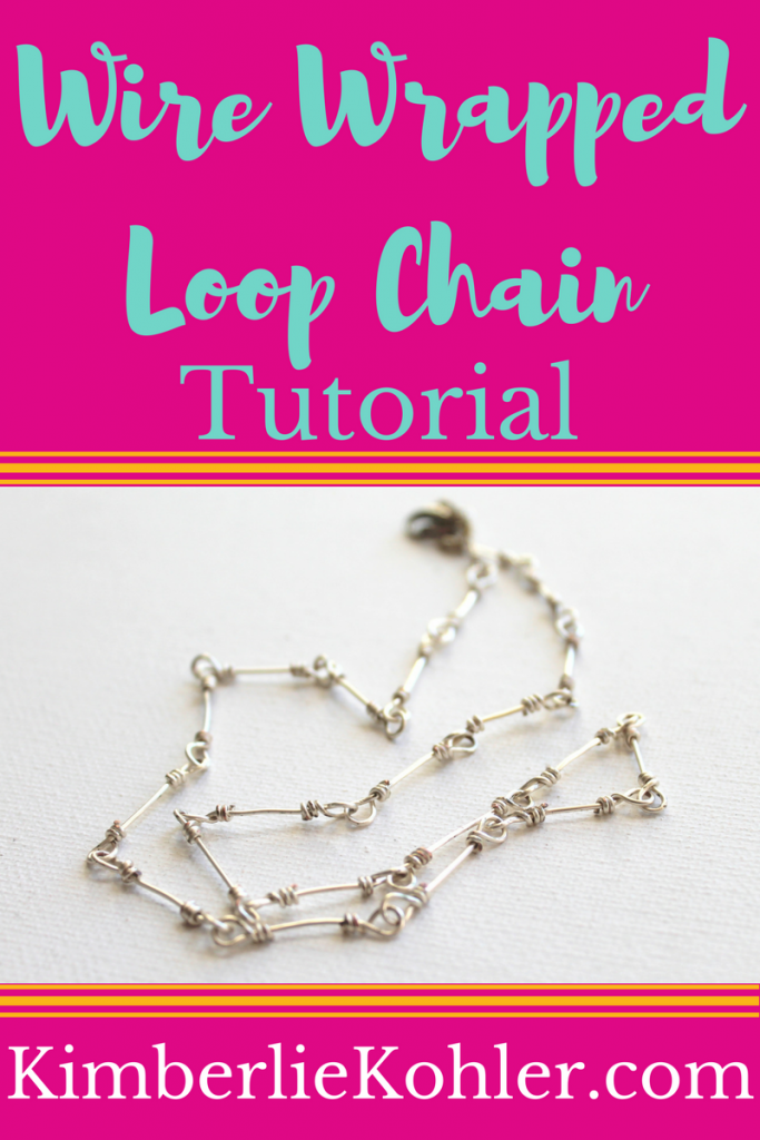 Wire Wrapped Loop Chain Tutorial