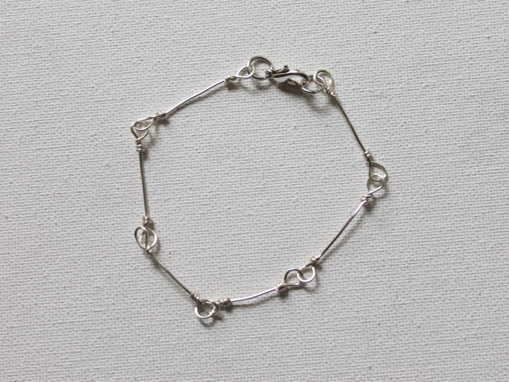 wire wrapped loop chain bracelet
