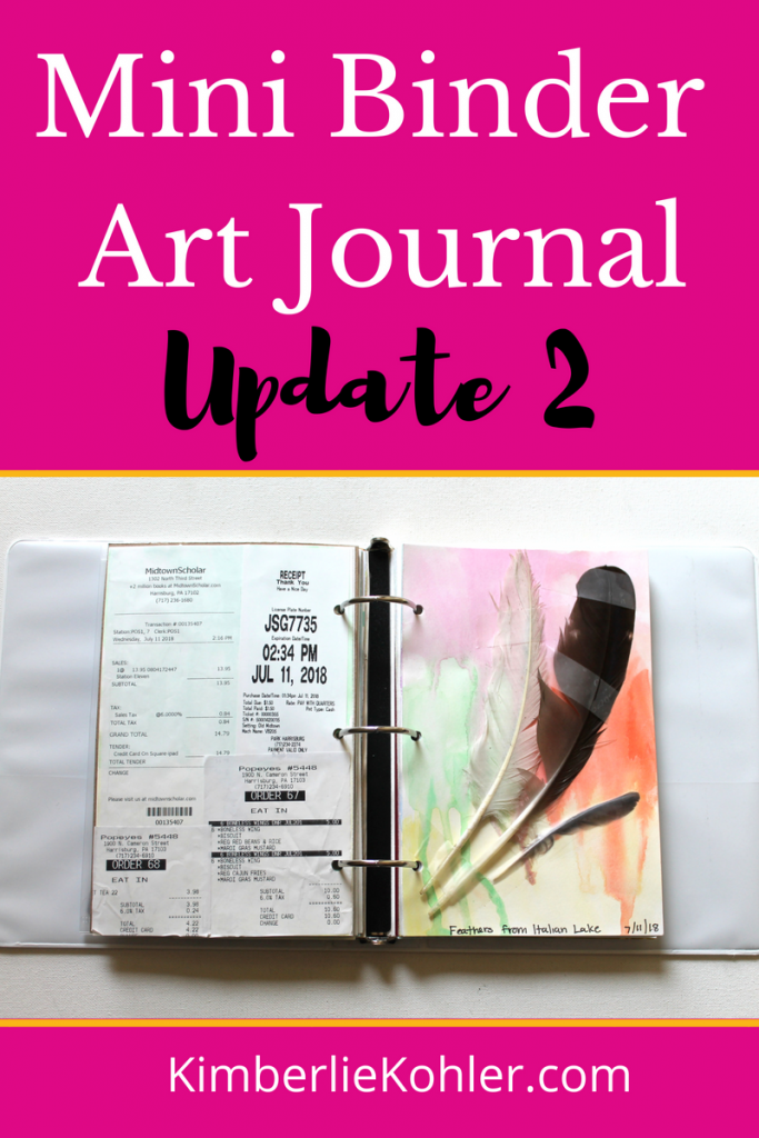 Mini Binder Art Journal Update 2