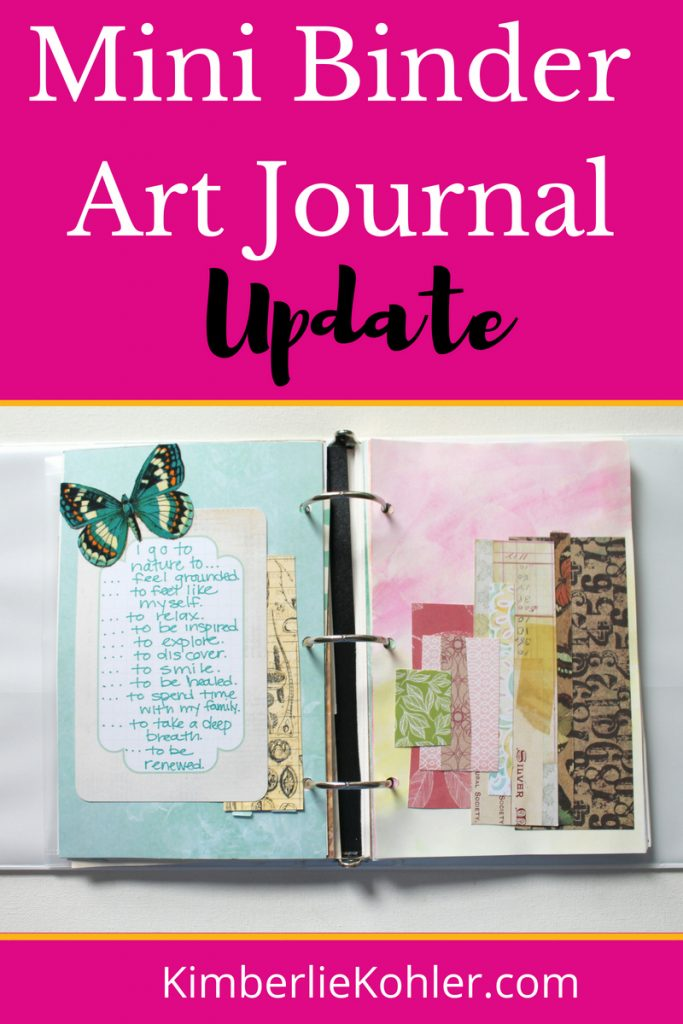 Mini Binder Art Journal Update