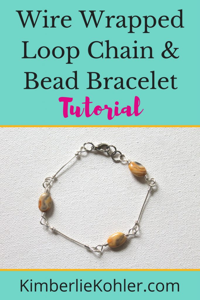 Wire Wrapped loop Chain & Bead Bracelet Tutorial